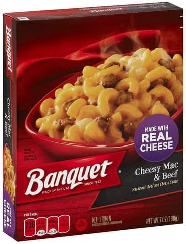 Banquet Cheesy Mac & Beef - 7 oz