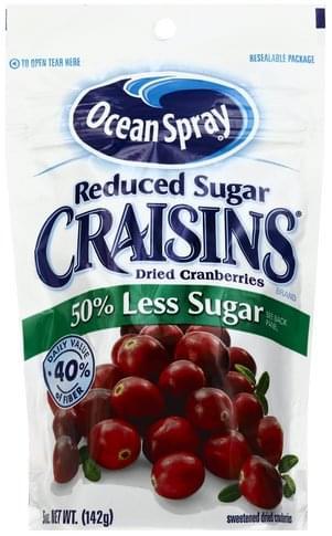 Ocean Spray Reduced Sugar Dried