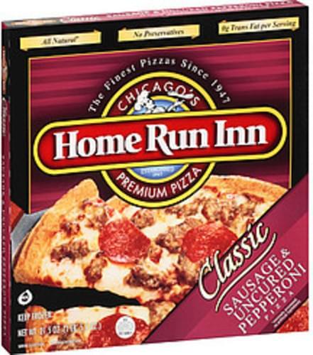 home run inn pizza premium classic sausage  uncured