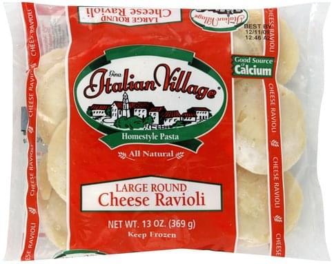 Italian Village Large Round, Cheese Ravioli - 13 oz