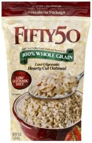 Fifty 50 Oatmeal Low Glycemic, Hearty Cut