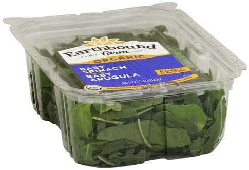 Earthbound Farm Baby Spinach & Baby Arugula - 5 oz