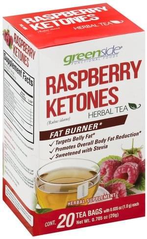 Green Side Raspberry Ketones Bags Herbal Tea 20 Ea Nutrition