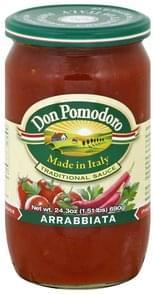 Don Pomodoro Sauce Traditional, Arrabbiata