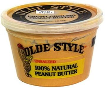 Olde Style 100% Natural Peanut Butter Unsalted