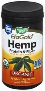 Natures Way Hemp Protein & Fiber Organic, Cold Milled Powder