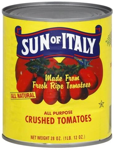 Sun of Italy Crushed, All Purpose Tomatoes - 28 oz