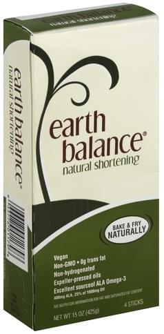 Earth Balance Natural Shortening - 4 ea