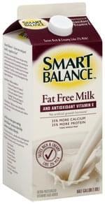 Smart Balance Milk Fat Free, and Antioxidant Vitamin E