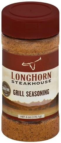 Longhorn Steakhouse Signature Blend Grill Seasoning 6 Oz Nutrition Information Innit