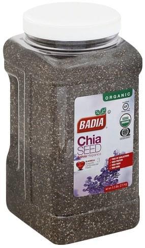Badia Organic Chia Seed - 5.5 lb