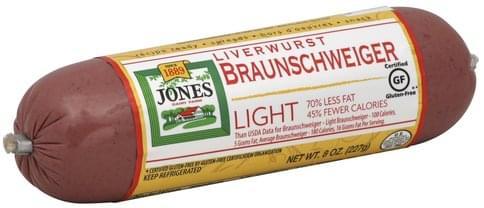 Jones Dairy Farm Braunschweiger, Light Liverwurst - 8 oz