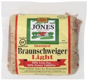 Jones Dairy Farm Liverwurst Braunschweiger, Light