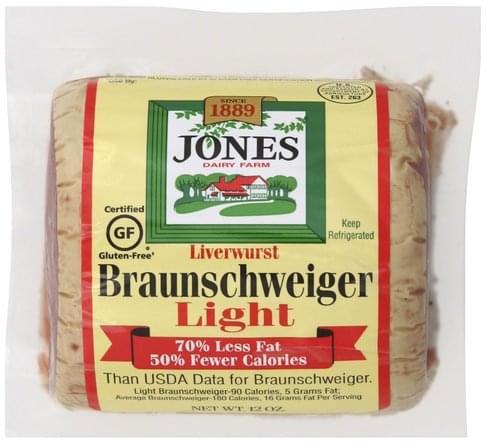 Jones Dairy Farm Braunschweiger, Light Liverwurst - 12 oz