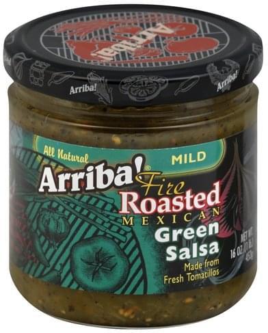 Arriba! Fire Roasted Mexican, Mild Green Salsa - 16 oz