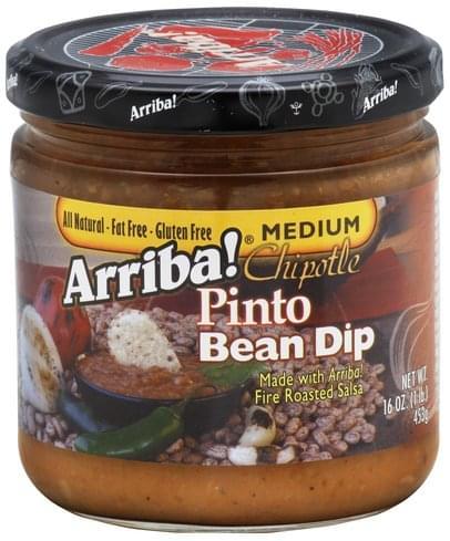 Arriba! Chipotle, Medium Pinto Bean Dip - 16 oz