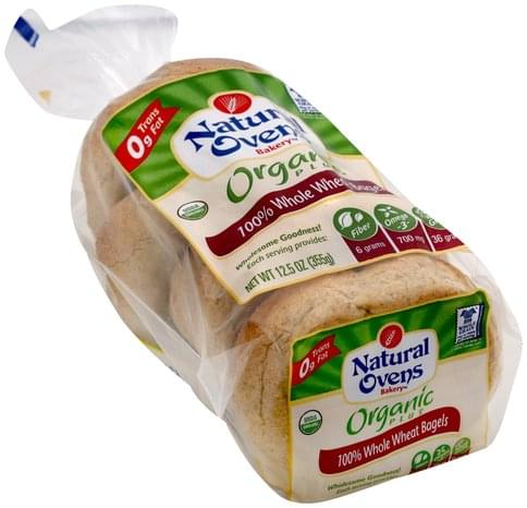 Natural Ovens 100% Whole Wheat Bagels - 12.5 oz