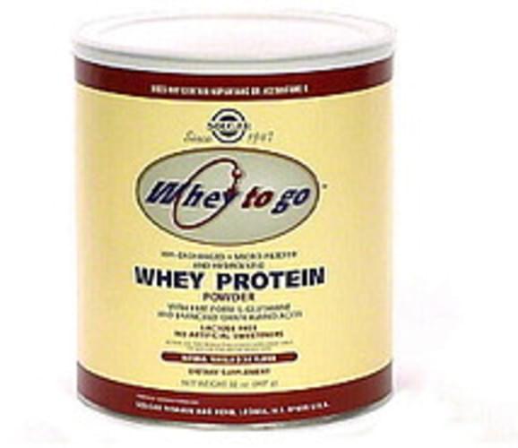 Solgar Natural Vanilla Bean Flavor Whey Protein Powder - 32 oz