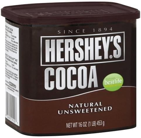 Hersheys Natural, Unsweetened Cocoa - 16 oz