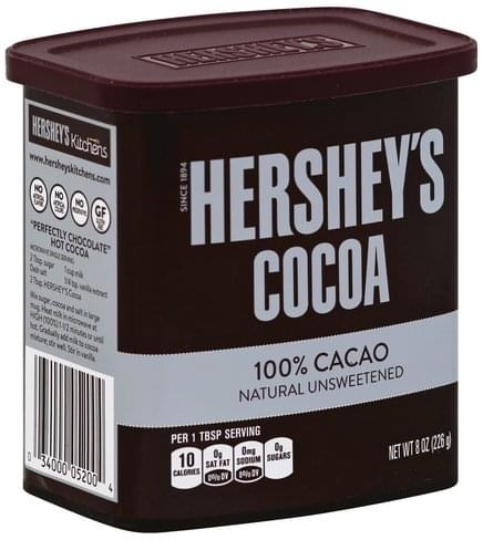 Hersheys Natural, Unsweetened Cocoa - 8 oz