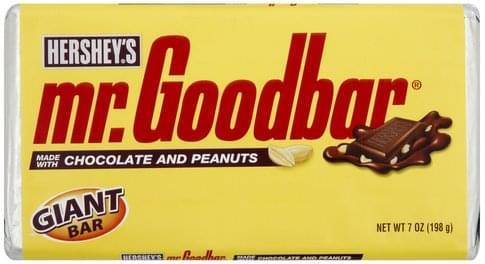 Mr Goodbar Giant Candy Bar - 7 oz, Nutrition Information | Innit
