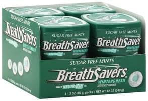 Breath Savers Mints Sugar Free, with NeutraZin, Wintergreen