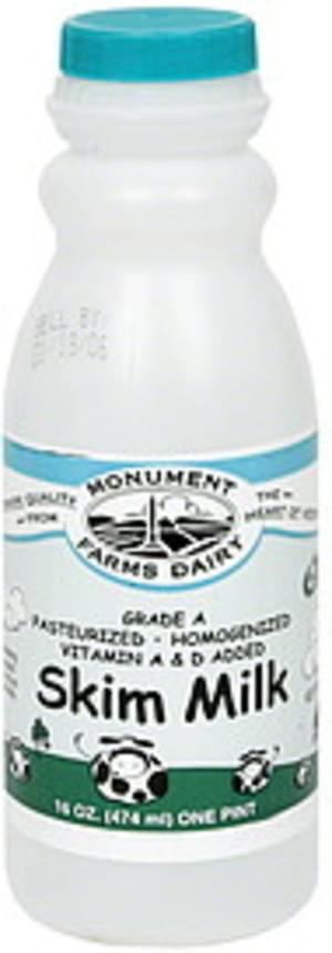 Monument Farms Dairy Skim Milk - 16 oz