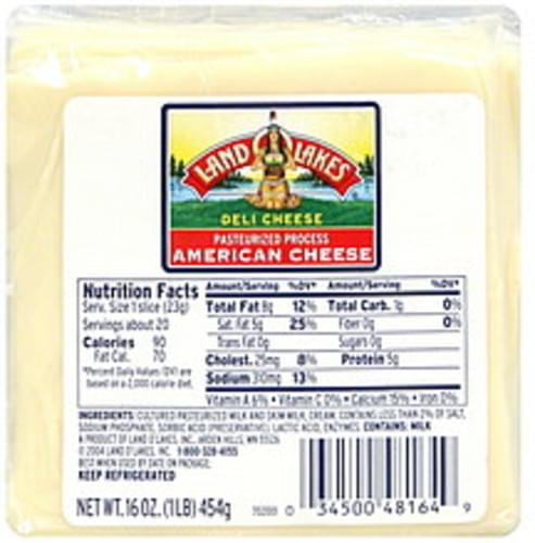 Land O Lakes American White Deli Cheese 16 Oz Nutrition Information Innit