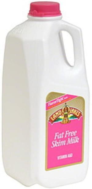 Land O Lakes Fat Free, Skim Milk - 0.5 Gal