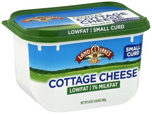 Land O Lakes Small Curd, 1% Milkfat, Low Fat Cottage Cheese - 24 oz