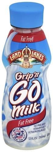 Land O Lakes Grip'n Go, Fat Free Milk - 12 oz
