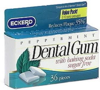 Eckerd Dental Gum with Baking Soda, Sugar Free, Peppermint