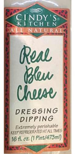 Cindy S Kitchen Real Bleu Cheese Dressing 30 Ml Nutrition