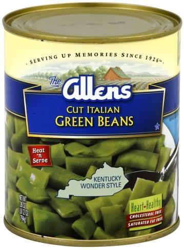 Allens Cut, Italian Green Beans - 28 oz