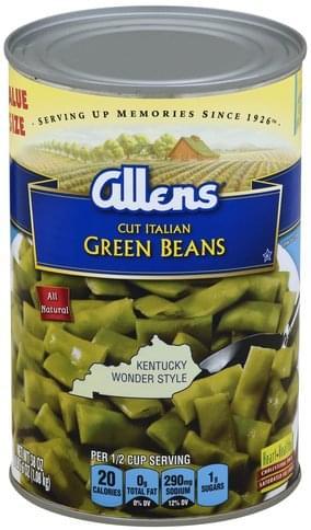 Italian, Value Size Green Beans - 38 oz