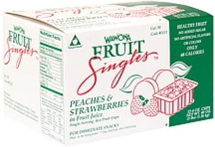 Wawona Fruit Singles Peaches & Strawberries in Fruit Juice