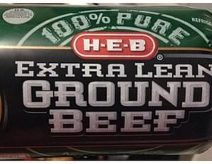 H-E-B 100% Pure Extra Lean Ground Beef