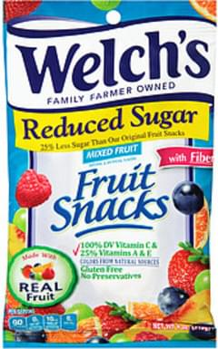 Welch's Fruit Snacks Welch's Reduced Sugar Mixed Fruits Fruit Snacks Reduced Sugar Mixed Fruits