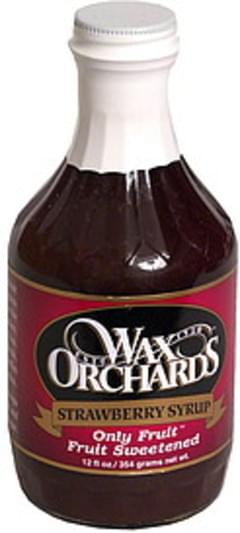 Wax Orchards Strawberry Syrup