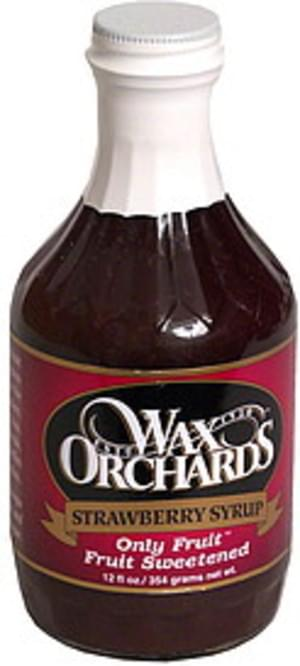 Wax Orchards Strawberry Syrup - 12 oz