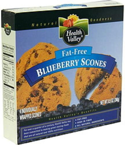 Health Valley Fat-Free Blueberry Scones - 4 ea