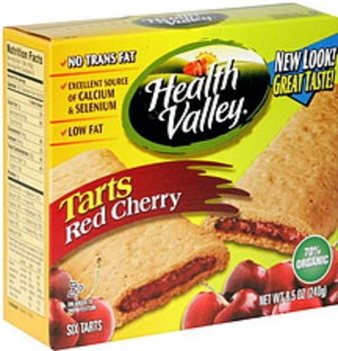 Health Valley Red Cherry Tarts - 6 ea