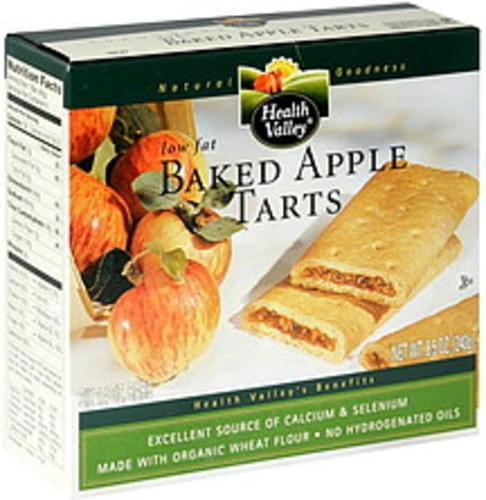 Health Valley Low Fat Baked Apple Tarts - 6 ea