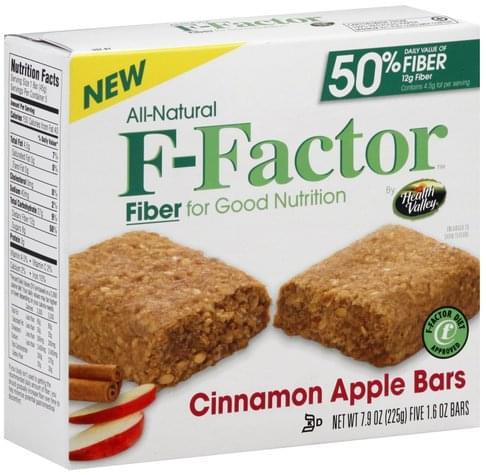F Factor Cinnamon Apple Bars - 5 ea
