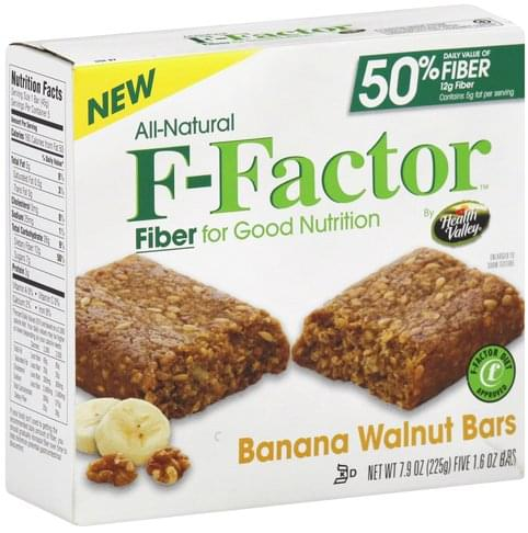 F Factor Banana Walnut Bars - 5 ea
