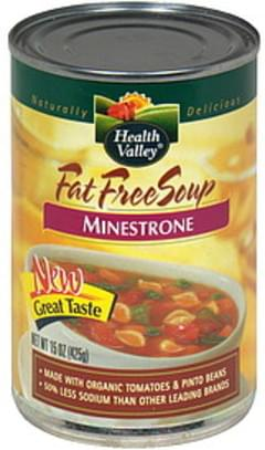 Health Valley Fat Free Soup Minestrone