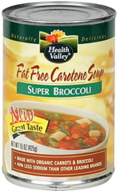 Health Valley Fat Free Carotene Soup Super Broccoli