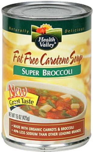 Health Valley Super Broccoli Fat Free Carotene Soup - 15 oz