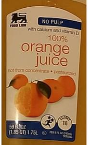 Food Lion Fruit Juice Orange