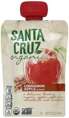 Santa Cruz Cinnamon Apple Sauce - 3.2 oz